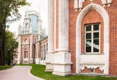 Tsaritsyno宫殿在莫斯科 库存照片