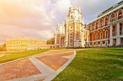 Tsaritsyno宫殿在莫斯科 图库摄影