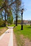 Tsaritsyno庄园的公园  免版税库存图片