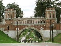 Tsaritsyno é um complexo de construções do palácio e de um parque pitoresco em torno deles fotos de stock royalty free