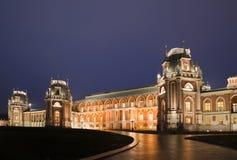 tsaritsyno för natt för slottlightingmuseum Royaltyfri Bild