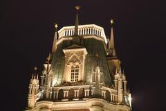 tsaritsyno för torn för reserv för lightingmuseumnatt Arkivbild