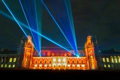 Tsaritsyno Festival internacional o círculo da luz Imagem de Stock