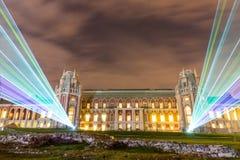 Tsaritsyno Festival internacional o círculo da luz Fotografia de Stock Royalty Free