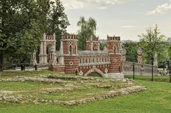 Tsaritsyno, Figured Bridge, Moscow Royalty Free Stock Images