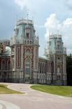 The Tsaritsyno  The Grand Palace  The Angular Tower  Heat Royalty Free Stock Photo