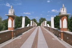 Tsaritsyno, grand pont Photos libres de droits