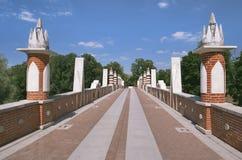 Tsaritsyno, große Brücke lizenzfreie stockfotos