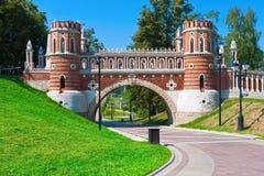 Tsaritsyno i Moskva Arkivfoton