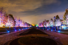 Tsaritsyno. International festival The Circle of Light. Tsaritsyno, Moscow, Russia - October 11, 2014: the international festival Circle of Light stock images