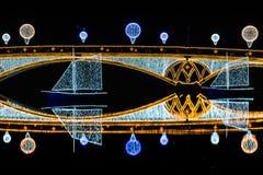Tsaritsyno. International festival The Circle of Light. Tsaritsyno, Moscow, Russia - October 11, 2014: the international festival Circle of Light, The Cristall Royalty Free Stock Photo