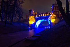 Tsaritsyno. International festival The Circle of Light. Tsaritsyno, Moscow, Russia - October 11, 2014: the international festival Circle of Light, The stock photo