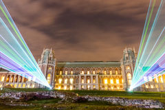 Tsaritsyno. International festival The Circle of Light. The Tsaritsino Palace, Tsaritsyno, Moscow, Russia - October 11, 2014: the international festival Circle Royalty Free Stock Photography