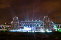 Tsaritsyno moscow Festival internacional o círculo da luz Imagens de Stock