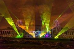 Tsaritsyno moscow Festival internacional o círculo da luz Imagem de Stock Royalty Free