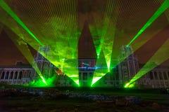 Tsaritsyno moscow Festival internacional o círculo da luz Fotos de Stock