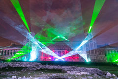 Tsaritsyno moscow Festival internacional o círculo da luz Fotos de Stock Royalty Free