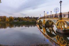 Tsaritsyno. Moscow. International festival The Circle of Light. Tsaritsyno, Moscow, Russia - October 11, 2014: the international festival Circle of Light, The Stock Photos
