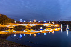 Tsaritsyno. Moscow. International festival The Circle of Light. Tsaritsyno, Moscow, Russia - October 11, 2014: the international festival Circle of Light, The stock images