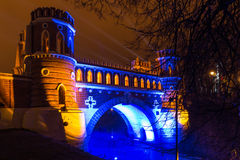 Tsaritsyno. Moscow. International festival The Circle of Light. Tsaritsyno, Moscow, Russia - October 11, 2014: the international festival Circle of Light stock photography