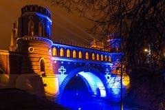 Tsaritsyno. Moscow. International festival The Circle of Light. Tsaritsyno, Moscow, Russia - October 11, 2014: the international festival Circle of Light Stock Photography
