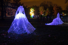 Tsaritsyno. Moscow. International festival The Circle of Light. Tsaritsyno, Moscow, Russia - October 11, 2014: the international festival Circle of Light Royalty Free Stock Images