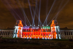 Tsaritsyno. Moscow. International festival The Circle of Light. The Tsaritsino Palace, Tsaritsino, Moscow, Russia - October 14, 2014: the international festival Royalty Free Stock Images