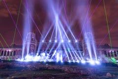 Tsaritsyno. Moscow. International festival The Circle of Light. The Tsaritsino Palace, Tsaritsino, Moscow, Russia - October 14, 2014: the international festival Royalty Free Stock Image