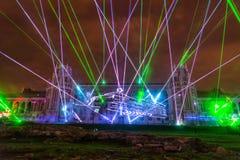Tsaritsyno. Moscow. International festival The Circle of Light. The Tsaritsino Palace, Tsaritsino, Moscow, Russia - October 14, 2014: the international festival Stock Images