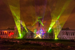 Tsaritsyno. Moscow. International festival The Circle of Light. The Tsaritsino Palace, Tsaritsino, Moscow, Russia - October 14, 2014: the international festival Stock Photos