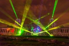 Tsaritsyno. Moscow. International festival The Circle of Light. The Tsaritsino Palace, Tsaritsino, Moscow, Russia - October 14, 2014: the international festival Stock Image