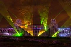Tsaritsyno. Moscow. International festival The Circle of Light. The Tsaritsino Palace, Tsaritsino, Moscow, Russia - October 14, 2014: the international festival Stock Photo