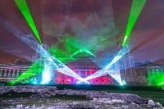 Tsaritsyno. Moscow. International festival The Circle of Light. The Tsaritsino Palace, Tsaritsino, Moscow, Russia - October 14, 2014: the international festival Royalty Free Stock Photos