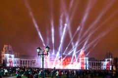 Tsaritsyno. Moscow. International festival The Circle of Light. The Tsaritsino Palace, Tsaritsino, Moscow, Russia - October 14, 2014: the international festival Royalty Free Stock Photo