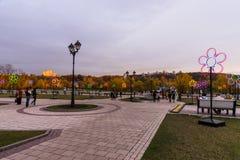 Tsaritsyno. Moscow. International festival The Circle of Light. Tsaritsino, Moscow, Russia - October 14, 2014: the international festival Circle of Light Royalty Free Stock Image