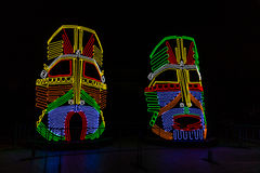 Tsaritsyno. Moscow. International festival The Circle of Light. Tsaritsino, Moscow, Russia - October 14, 2014: the international festival Circle of Light Stock Image