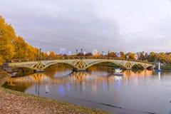 Tsaritsyno moscow Internationell festival cirkeln av ljus Royaltyfria Foton