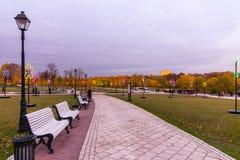Tsaritsyno moscow Międzynarodowy festiwal okrąg światło Obrazy Stock