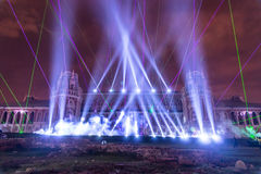 Tsaritsyno moscow Międzynarodowy festiwal okrąg światło Obraz Royalty Free