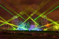 Tsaritsyno moscow Międzynarodowy festiwal okrąg światło Fotografia Stock