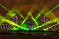 Tsaritsyno moscow Międzynarodowy festiwal okrąg światło Zdjęcie Royalty Free