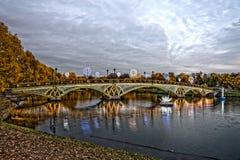 Tsaritsyno moscow Międzynarodowy festiwal okrąg światło HDR Zdjęcia Royalty Free