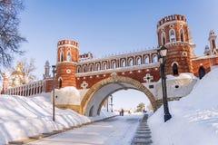 Tsaritsyno museum i Moskva, Ryssland Arkivbilder
