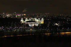 Tsaritsyno at night time, Moscow Royalty Free Stock Photo