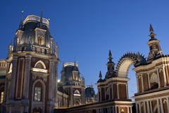 Tsaritsyno - o palácio grande Fotos de Stock Royalty Free
