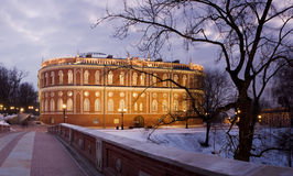 Tsaritsyno Palace. In dusk, Moscow, Russia Royalty Free Stock Photo