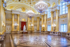 Tsaritsyno Palace. MOSCOW, RUSSIA - APRIL 10, 2015: Interior of restored Tsaritsyno Palace in Moscow. The palace was originally built for Catherine The Great Royalty Free Stock Photography