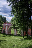 Tsaritsyno Palace Park. Moscow, Russia. 1775 Stock Image