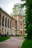 Tsaritsyno Palace and park in Moscow, Russia. stock image