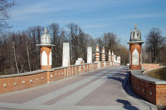 Tsaritsyno Park and Estate in Moscow Royalty Free Stock Photography